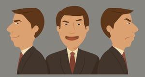 Tecken för affärsman tre Arkivfoton