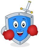 Tecken för Antivirus för boxaresäkerhetssköld Royaltyfri Fotografi