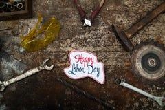 Tecken för arbets- dag Royaltyfri Foto