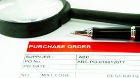 Tecken för avtal för dokument för beställning för köpaffär finansiellt royaltyfri fotografi