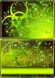 tecken för biohazardkortset royaltyfri illustrationer