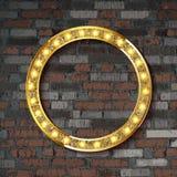 Tecken för bräde för cirkel för vektorstort festtältljus stock illustrationer