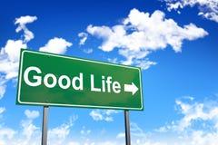 Tecken för bra liv arkivbilder
