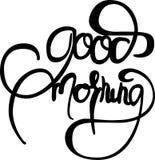 Tecken för bra morgon royaltyfri illustrationer