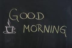 Tecken för bra morgon Arkivfoton