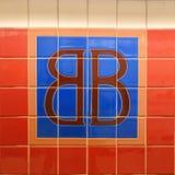 Tecken för Brooklyn bro arkivbild