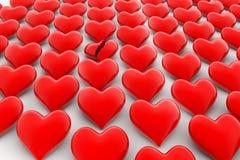 Tecken för bruten hjärta, förlust av förälskelsebegreppet Royaltyfri Bild