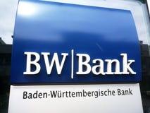 Tecken för BW bankfilial Royaltyfria Bilder