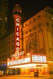 Tecken för Chicago teaterneon Royaltyfri Foto