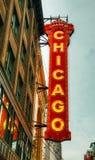 Tecken för Chicago teaterneon Royaltyfri Bild