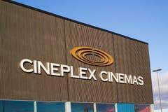 Tecken för Cineplex bioteater royaltyfria foton