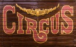 Tecken för cirkusvagn royaltyfri bild