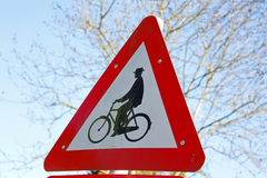 Tecken för cykel Royaltyfria Bilder