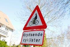 Tecken för cykel Royaltyfria Foton
