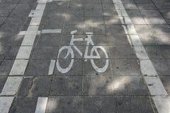 tecken för cykelcykellane Royaltyfri Fotografi