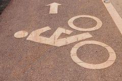 Tecken för cykelgränd Arkivbild