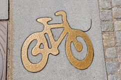 Tecken för cykelgränd Royaltyfri Fotografi