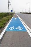 Tecken för cykelgränd Arkivfoto