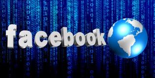 tecken för 3D Facebook Royaltyfria Foton