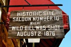 Tecken för Deadwoodsalong 10 Arkivfoton