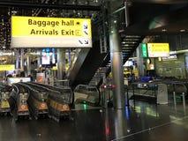 Tecken för destination för bagagekorridor royaltyfri fotografi