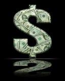 tecken för dollar 9 Arkivfoto