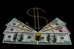 tecken för dollarguldpengar Royaltyfria Bilder