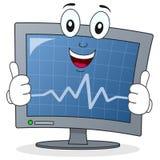 Tecken för ECG-elektrokardiogrambildskärm Fotografering för Bildbyråer