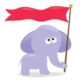 tecken för elefantflaggaholding Royaltyfria Bilder
