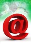 tecken för email 3d Royaltyfri Fotografi