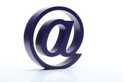 tecken för email 3D på vit Arkivbilder