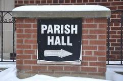 Tecken för församlingkorridor Royaltyfria Foton