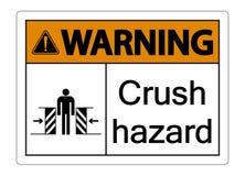 tecken för fara för symbolwarninigfruktdryck på vit bakgrund stock illustrationer