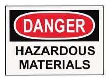 tecken för farliga material för fara Arkivfoton