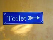 Tecken för gammal stil av WC-toaletten Arkivfoton