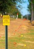 tecken för gaspipeline Arkivfoto