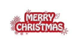 Tecken för glad jul Arkivfoto