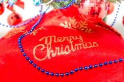 Tecken för glad jul, logo Royaltyfri Bild