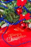 Tecken för glad jul, logo Arkivfoto