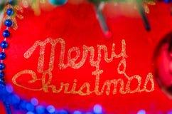 Tecken för glad jul, logo Royaltyfria Foton