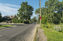 Tecken för Gouin boulevardgata Arkivfoto