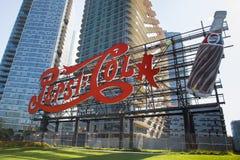 Tecken för gränsmärkePepsi Cola Arkivbild