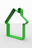 tecken för grönt hus 3d Royaltyfri Fotografi