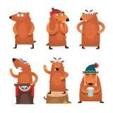 Tecken för Groundhog dag vektor illustrationer