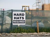 tecken för hård hatt Royaltyfri Foto