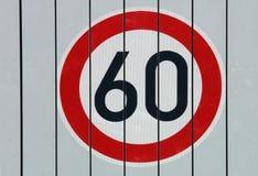 Tecken för hastighetsgräns Arkivfoto