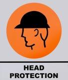 Tecken för Head skydd royaltyfria bilder