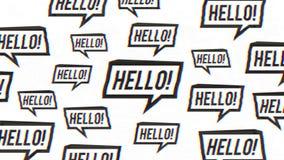 Tecken för Hello anförandebubbla med tekniskt feleffekter