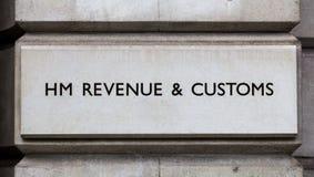 Tecken för HMEN Revenue och egenar arkivbilder