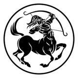 Tecken för horoskop för Skyttenkentaurzodiak Royaltyfria Bilder
